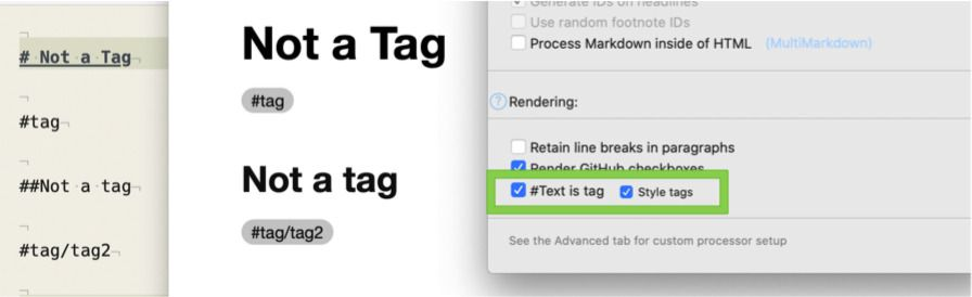 #Text is tag enabled